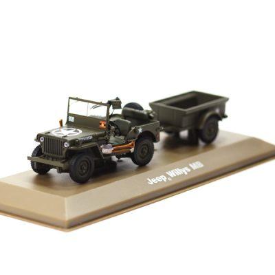 Willys Jeep met aanhanger