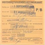 Morris Oxford motorrijtuigenbelastingkaart 001