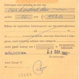 Morris Oxford motorrijtuigenbelastingkaart